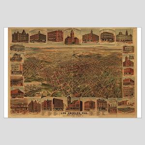 1891. Antique LA Map Large Poster
