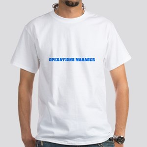 Operations Manager Blue Bold Design T-Shirt