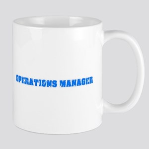 Operations Manager Blue Bold Design Mugs