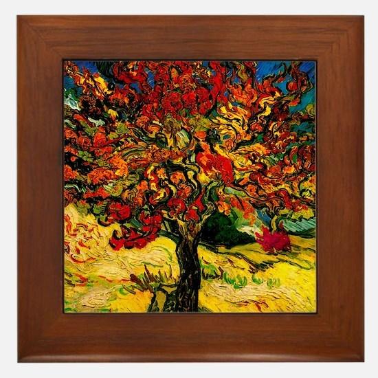 Cool Mulberry Framed Tile