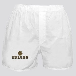 Briard (dog paw) Boxer Shorts