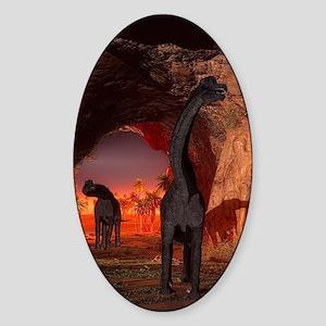 Brachiosaurus disappear in a cave Sticker