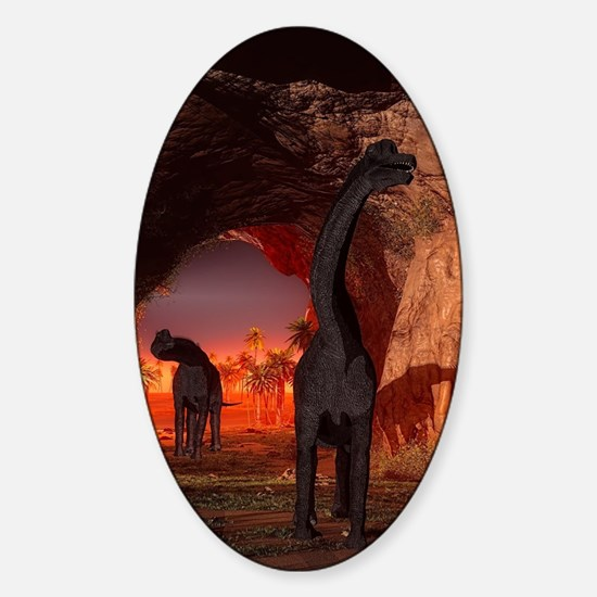 Brachiosaurus disappear in a cave Decal