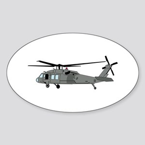 Black Hawk Helicopter Sticker