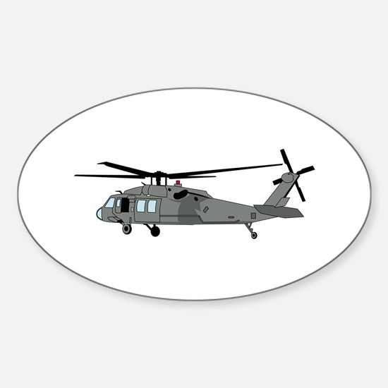 Black Hawk Helicopter Decal