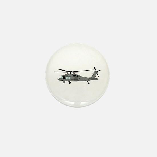 Black Hawk Helicopter Mini Button