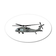 Black Hawk Helicopter Wall Decal