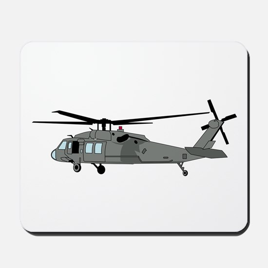 Black Hawk Helicopter Mousepad