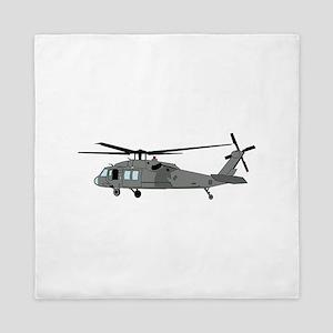 Black Hawk Helicopter Queen Duvet