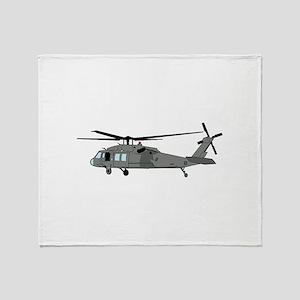 Black Hawk Helicopter Throw Blanket