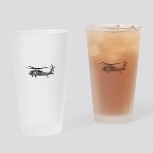 Black Hawk Helicopter Drinking Glass