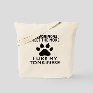 I Like My Tonkinese Cat Tote Bag