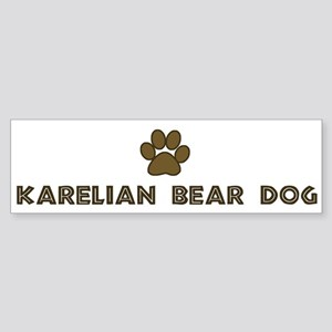 Karelian Bear Dog (dog paw) Bumper Sticker