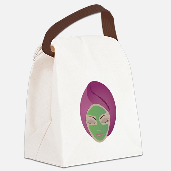 Facial Canvas Lunch Bag