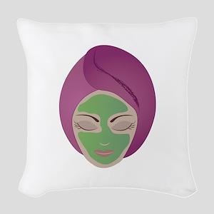 Facial Woven Throw Pillow