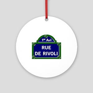 Rue de Rivoli, Paris - France Ornament (Round)