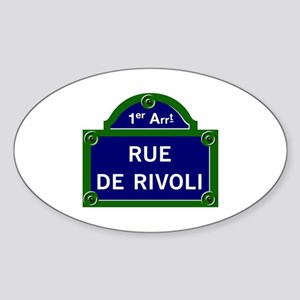 Rue de Rivoli, Paris - France Oval Sticker