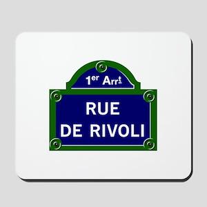 Rue de Rivoli, Paris - France Mousepad