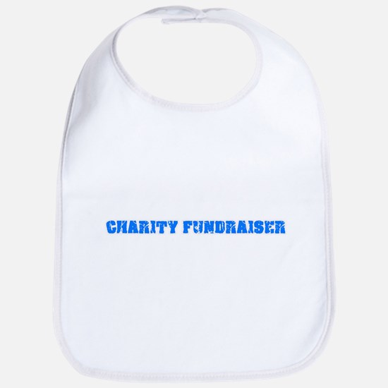 Charity Fundraiser Blue Bold Design Baby Bib