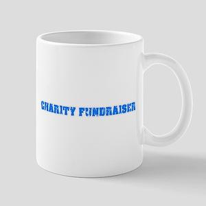 Charity Fundraiser Blue Bold Design Mugs