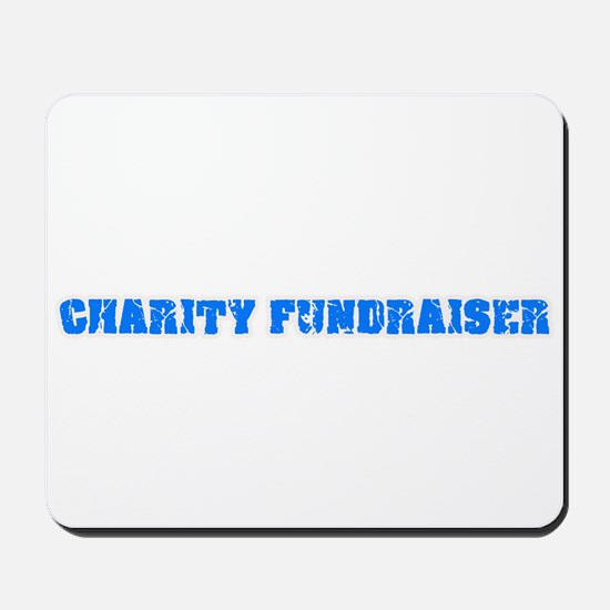 Charity Fundraiser Blue Bold Design Mousepad
