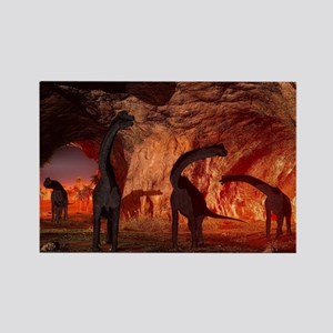 Brachiosaurus disappear in a cave Magnets