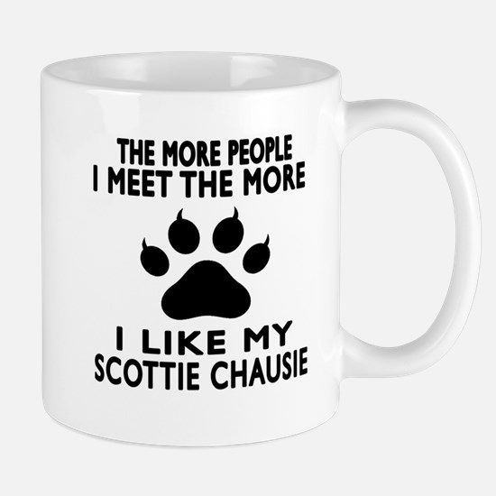 I Like My Scottie chausie Cat Mug