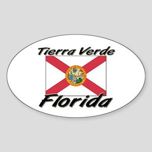 Tierra Verde Florida Oval Sticker