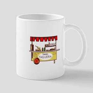 Taco Stand Taqueria Stand Woodcut Mugs