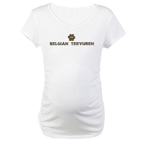 Belgian Tervuren (dog paw) Maternity T-Shirt