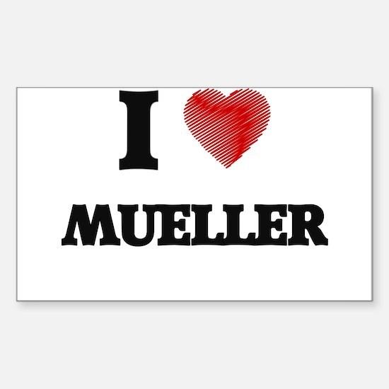 I Love Mueller Decal