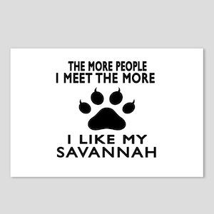 I Like My Savannah Cat Postcards (Package of 8)