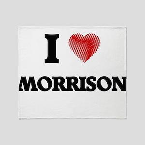 I Love Morrison Throw Blanket