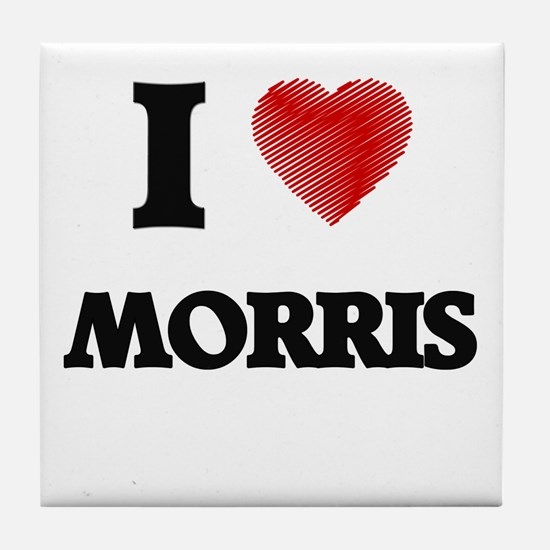 I Love Morris Tile Coaster