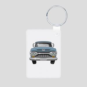 1960 Ford F100 Aluminum Photo Keychain