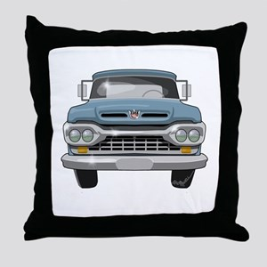 1960 Ford F100 Throw Pillow