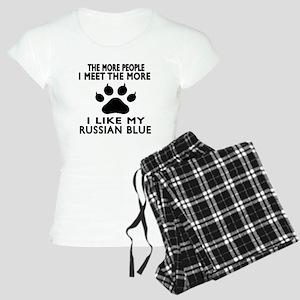 I Like My Russian Blue Cat Women's Light Pajamas
