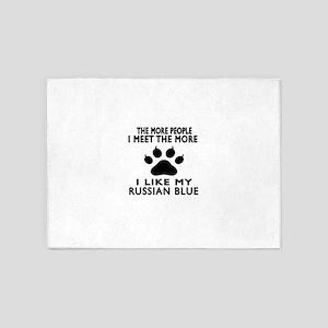 I Like My Russian Blue Cat 5'x7'Area Rug