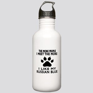 I Like My Russian Blue Stainless Water Bottle 1.0L