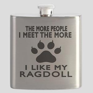 I Like My Ragdoll Cat Flask
