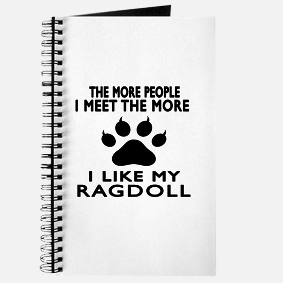 I Like My Ragdoll Cat Journal