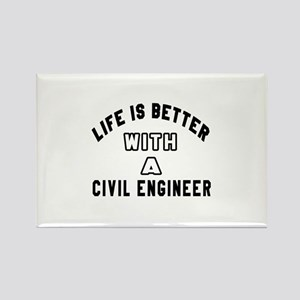 Civil engineer Designs Rectangle Magnet