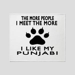 I Like My Punjabi Cat Throw Blanket