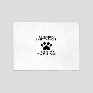 I Like My Punjabi Cat 5'x7'Area Rug