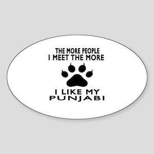 I Like My Punjabi Cat Sticker (Oval)