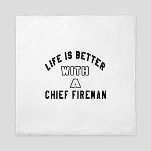 Chief fireman Designs Queen Duvet
