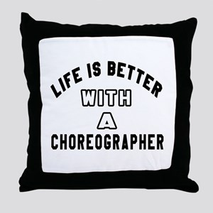 Choreographer Designs Throw Pillow