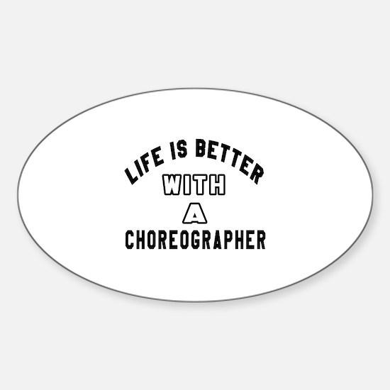 Choreographer Designs Sticker (Oval)