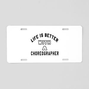Choreographer Designs Aluminum License Plate