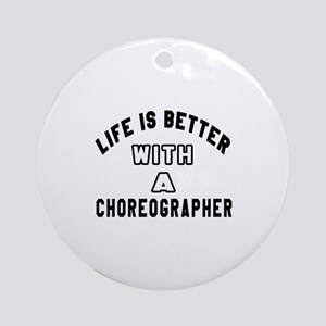Choreographer Designs Round Ornament